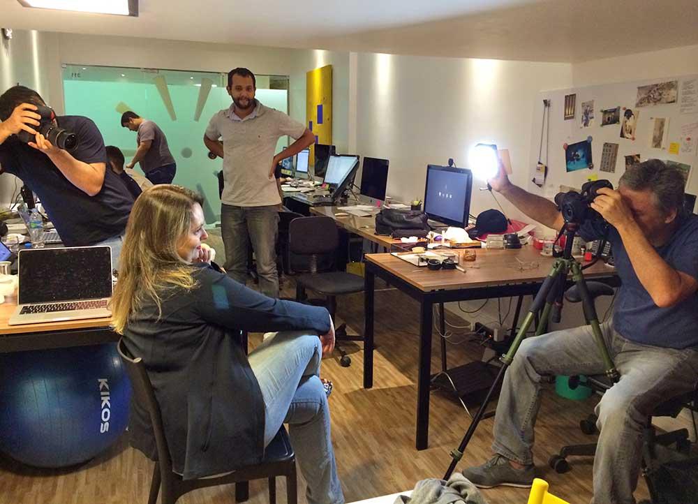Sessão de fotos na Subito Creative para a divulgação da nova startup na imprensa