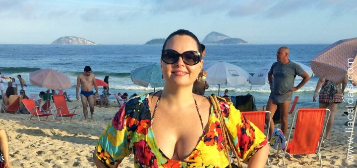 Lia Caldas na Praia do Leblon