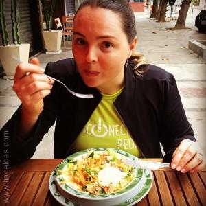 Lia e sua salada