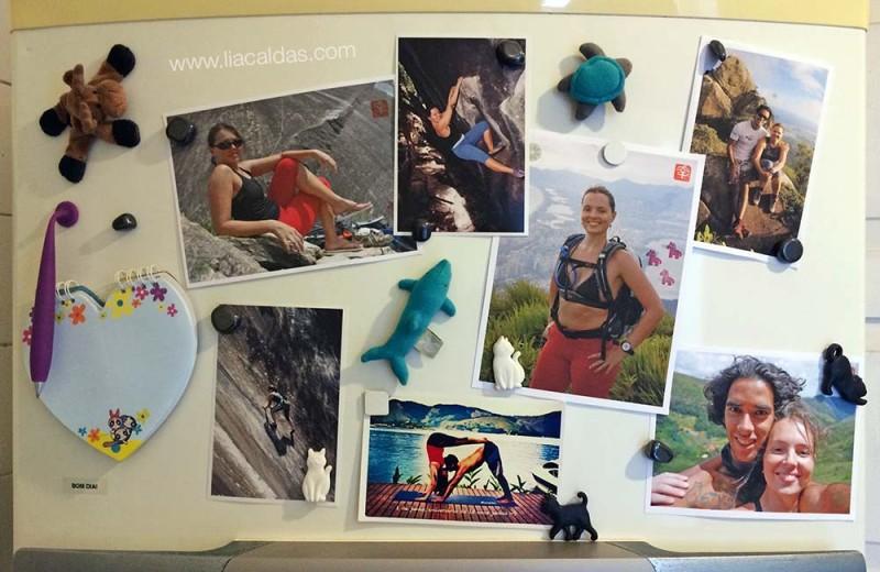 Fotos na geladeira
